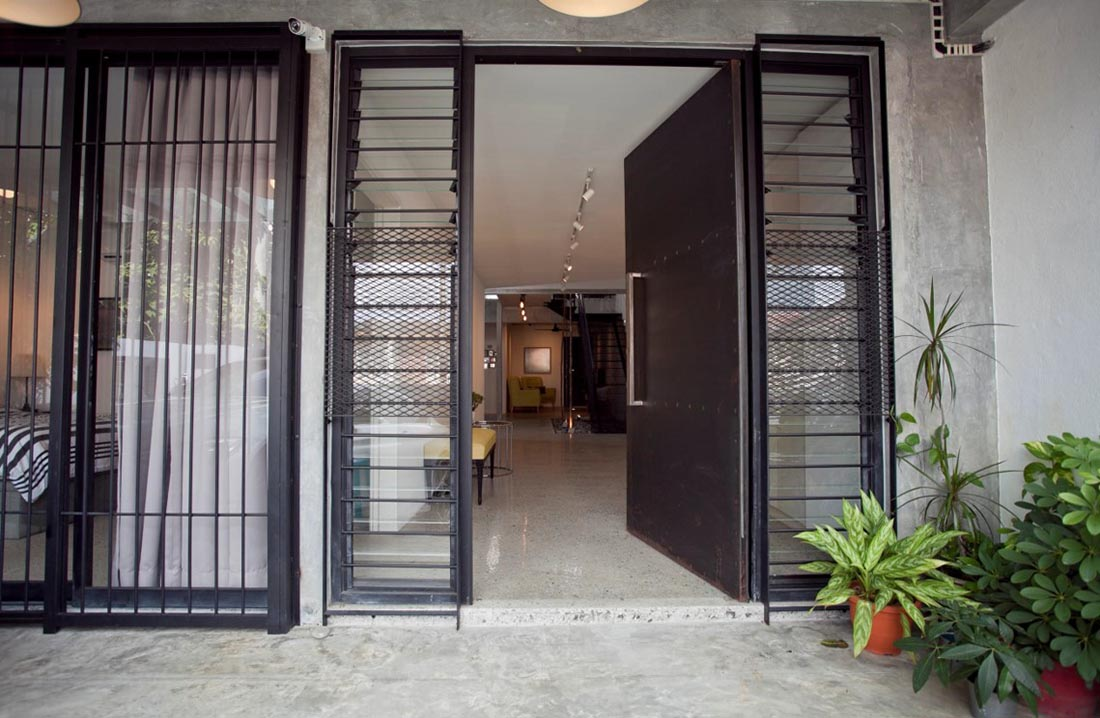 Breezway Louvres with security bars in entrance